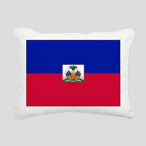 Flag of Haiti Rectangular Canvas Pillow
