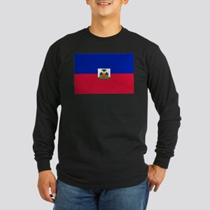 Flag of Haiti Long Sleeve Dark T-Shirt