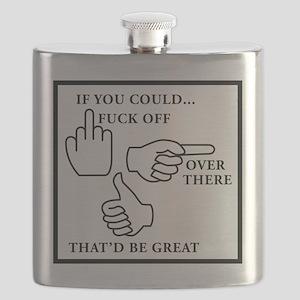 FUCK OFF black Flask