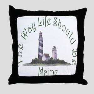 Maine State Motto Throw Pillow