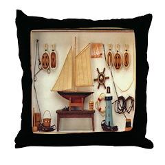 Nautical Scene Throw Pillow