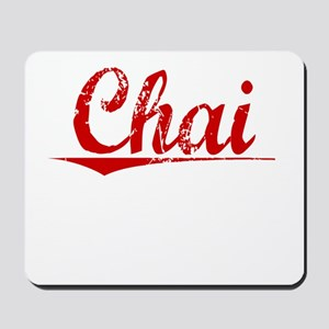 Chai, Vintage Red Mousepad
