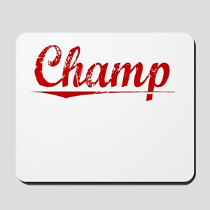 Champ, Vintage Red Mousepad