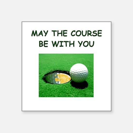 "i love golf Square Sticker 3"" x 3"""