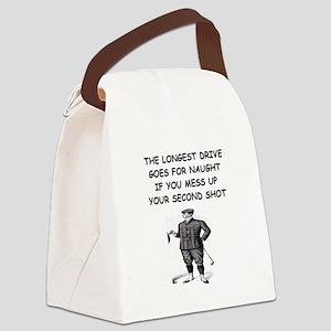 funny golf golfer golfing joke Canvas Lunch Bag