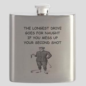 funny golf golfer golfing joke Flask