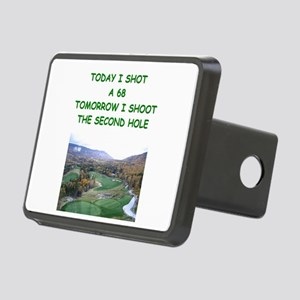 funny golf golfer golfing joke Rectangular Hitch C