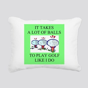 funny golf golfer golfing joke Rectangular Canvas