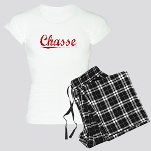 Chasse, Vintage Red Women's Light Pajamas