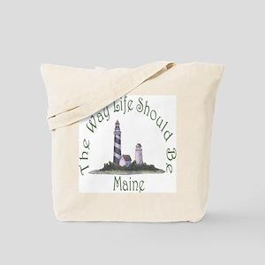 Maine State Motto Tote Bag