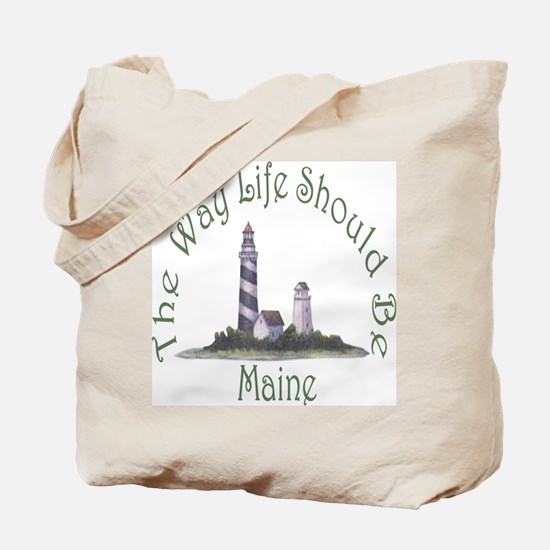 Maine State Motto Tote Bag