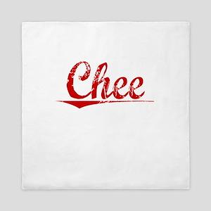 Chee, Vintage Red Queen Duvet