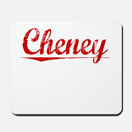 Cheney, Vintage Red Mousepad