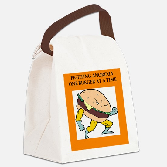funny fighting anorexia hamburger joke Canvas Lunc