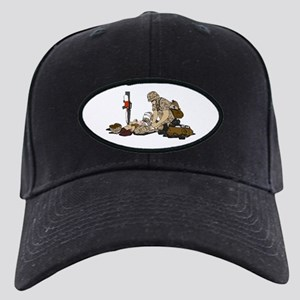 Wounded Warrior Support the Troops Black Cap