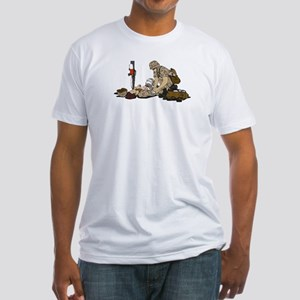 Wounded Warrior Support the Troops Fitted T-Shirt