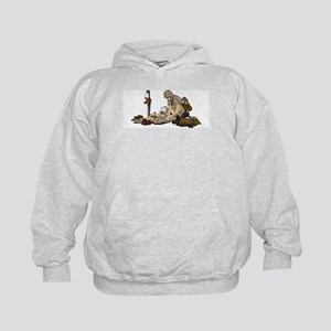 Wounded Warrior Support the Troops Kids Hoodie