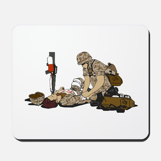 Wounded Warrior Support the Troops Mousepad