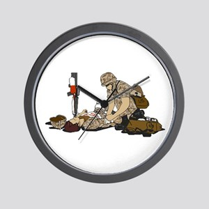 Wounded Warrior Support the Troops Wall Clock