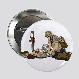 "Wounded Warrior Support the Troops 2.25"" Button (1"