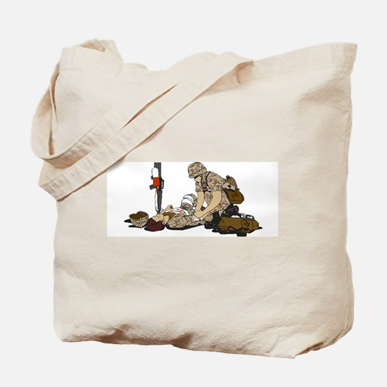 Wounded Warrior Support the Troops Tote Bag