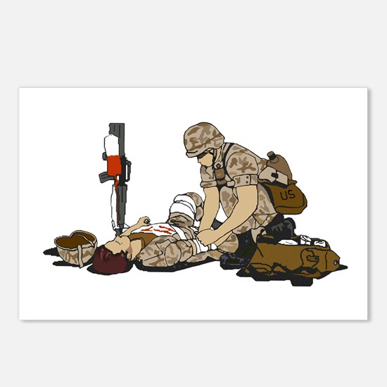 Wounded Warrior Support the Troops Postcards (Pack