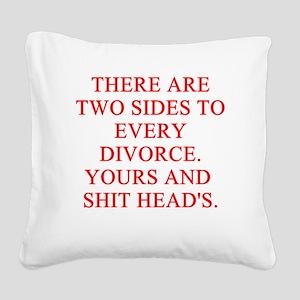 divorce story Square Canvas Pillow