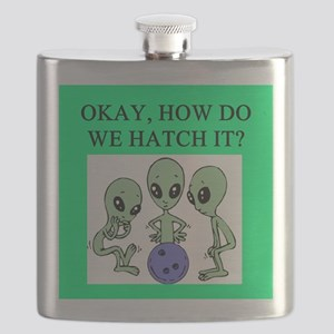 funny alien ufo area 51 bowling joke Flask