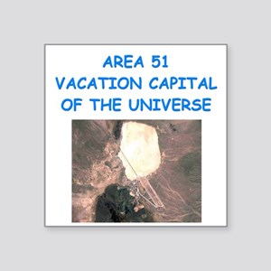 funny area 41 flying saucer ufo aliens joke Square