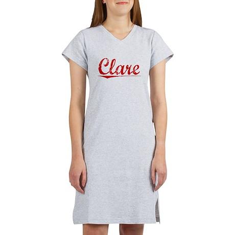Clare, Vintage Red Women's Nightshirt