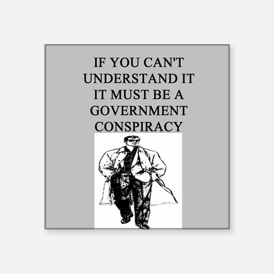"""CONSPIRACY2.png Square Sticker 3"""" x 3"""""""