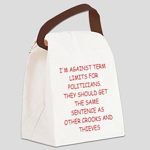 POLITICIANS Canvas Lunch Bag