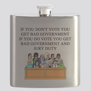election jury duty gifts apparel Flask