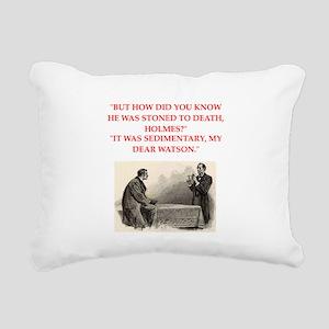 holmes joke Rectangular Canvas Pillow