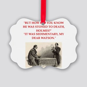 holmes joke Picture Ornament