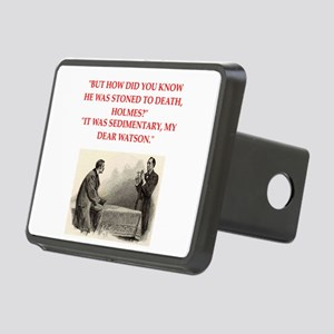 holmes joke Rectangular Hitch Cover