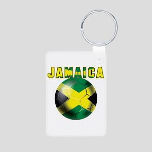 Jamaican Football Aluminum Photo Keychain