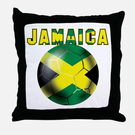 Jamaican Football Throw Pillow