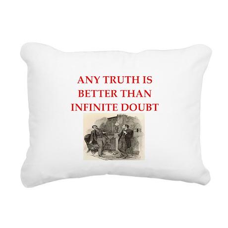 HOLMES24 Rectangular Canvas Pillow