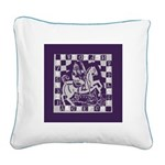 Knight Square Canvas Pillow