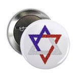 Red White Blue Star of David 2.25