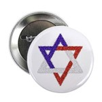 Red White Blue Star of David Button