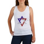 Red White Blue Star of David Women's Tank Top