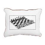 Chess Board Rectangular Canvas Pillow