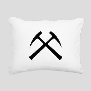 Crossed Rock Hammers Rectangular Canvas Pillow
