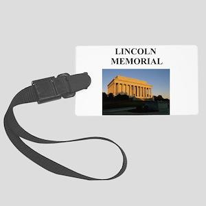 lincoln memorial washington gifts Large Luggage Ta