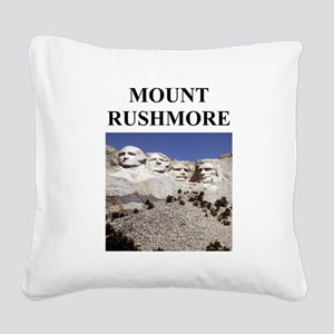 mount rushmore gifts Square Canvas Pillow