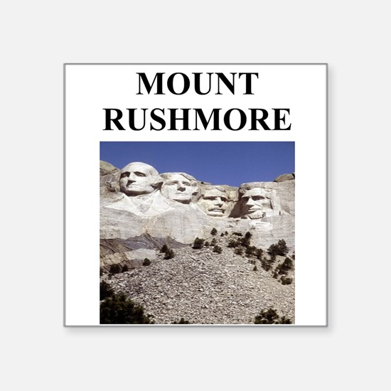 """mount rushmore gifts Square Sticker 3"""" x 3"""""""