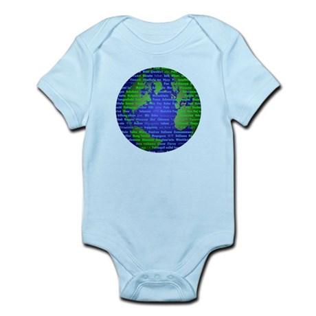 Peace On Earth Farsi Infant Bodysuit
