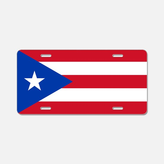 Puerto Rican Flag Aluminum License Plate